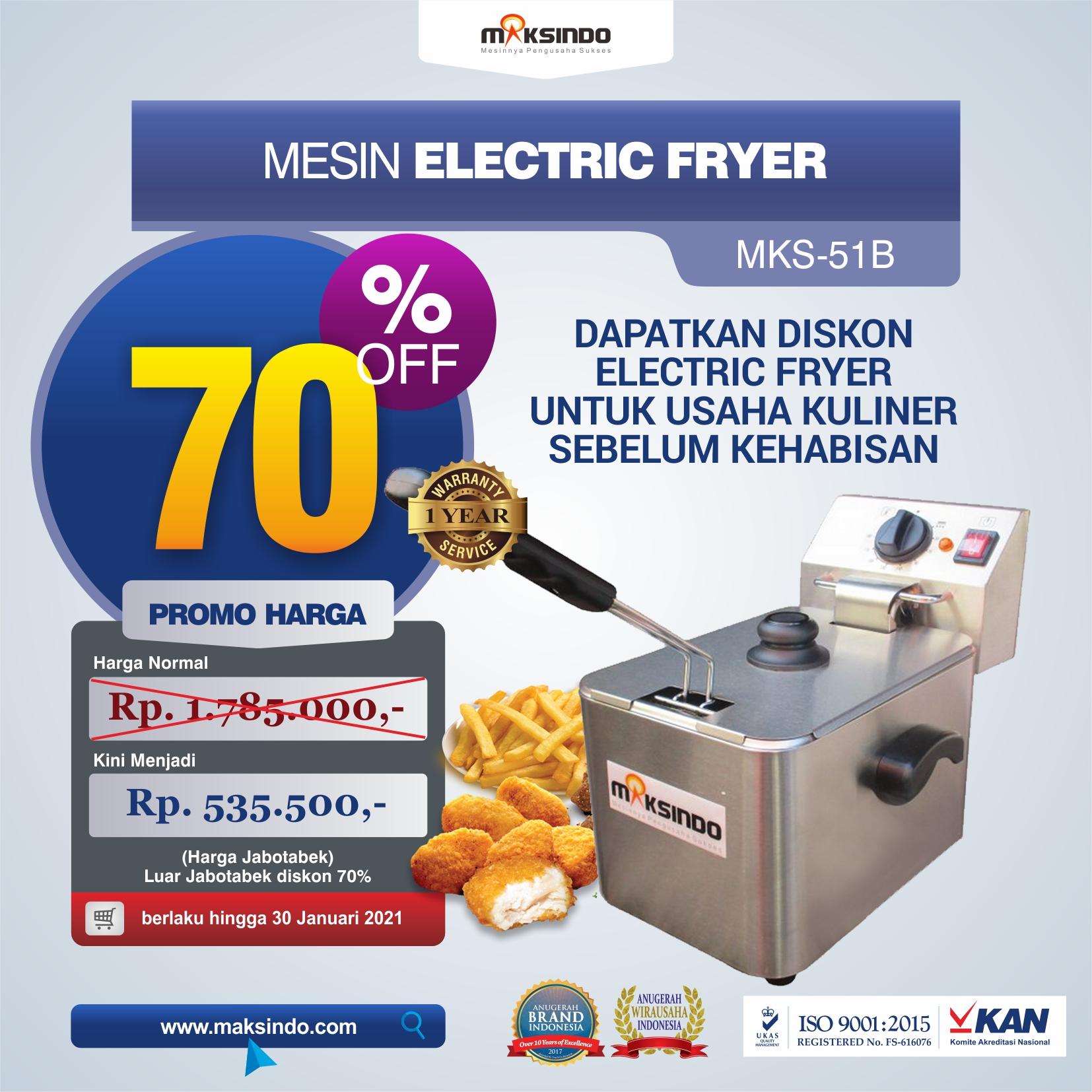 Jual Mesin Electric Fryer MKS-51B di Bekasi