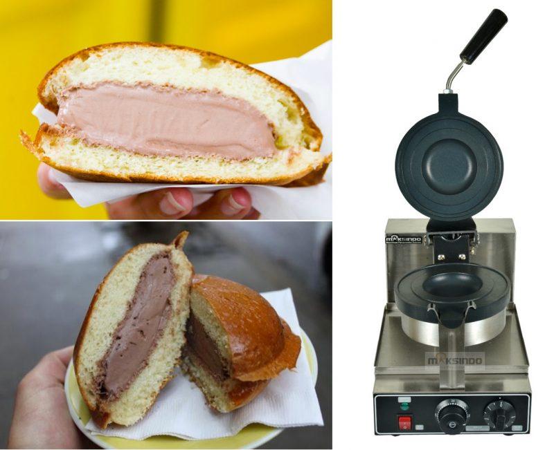 Jual Mesin Gelato Panini Press Es Krim Dalam Roti MKS-GPP01 di Bekasi