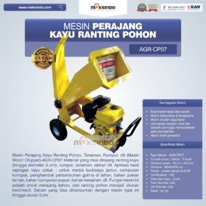 Jual Mesin Perajang Ranting dan Kayu Basah – CP07 di Bekasi
