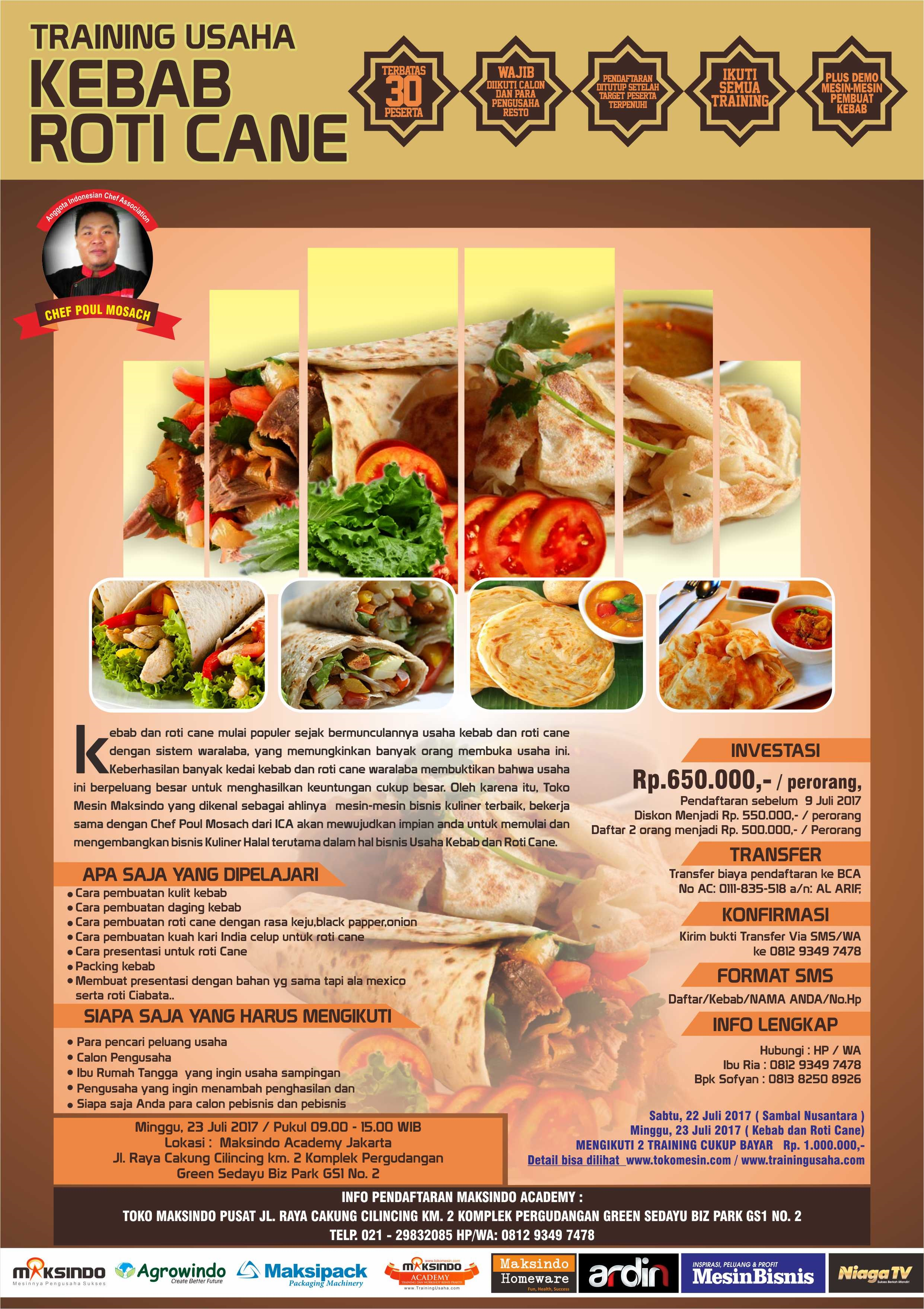 Training Usaha Kebab Roti Cane, 23 Juli 2017