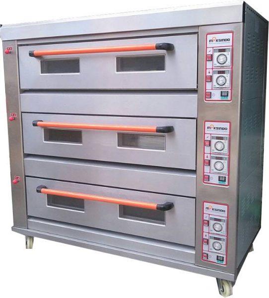 Jual Mesin Oven Roti Gas 3 Rak 9 Loyang (GO39) di Bekasi