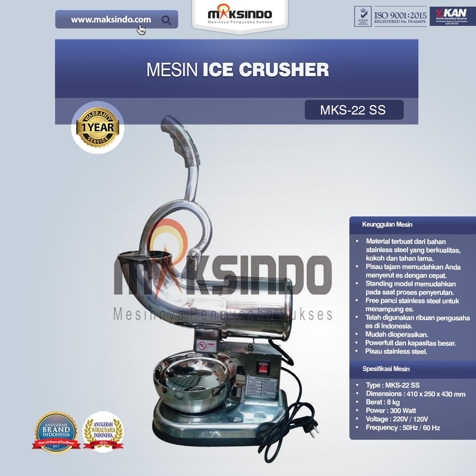 Jual Mesin Ice Crusher (MKS-22SS) di Bekasi