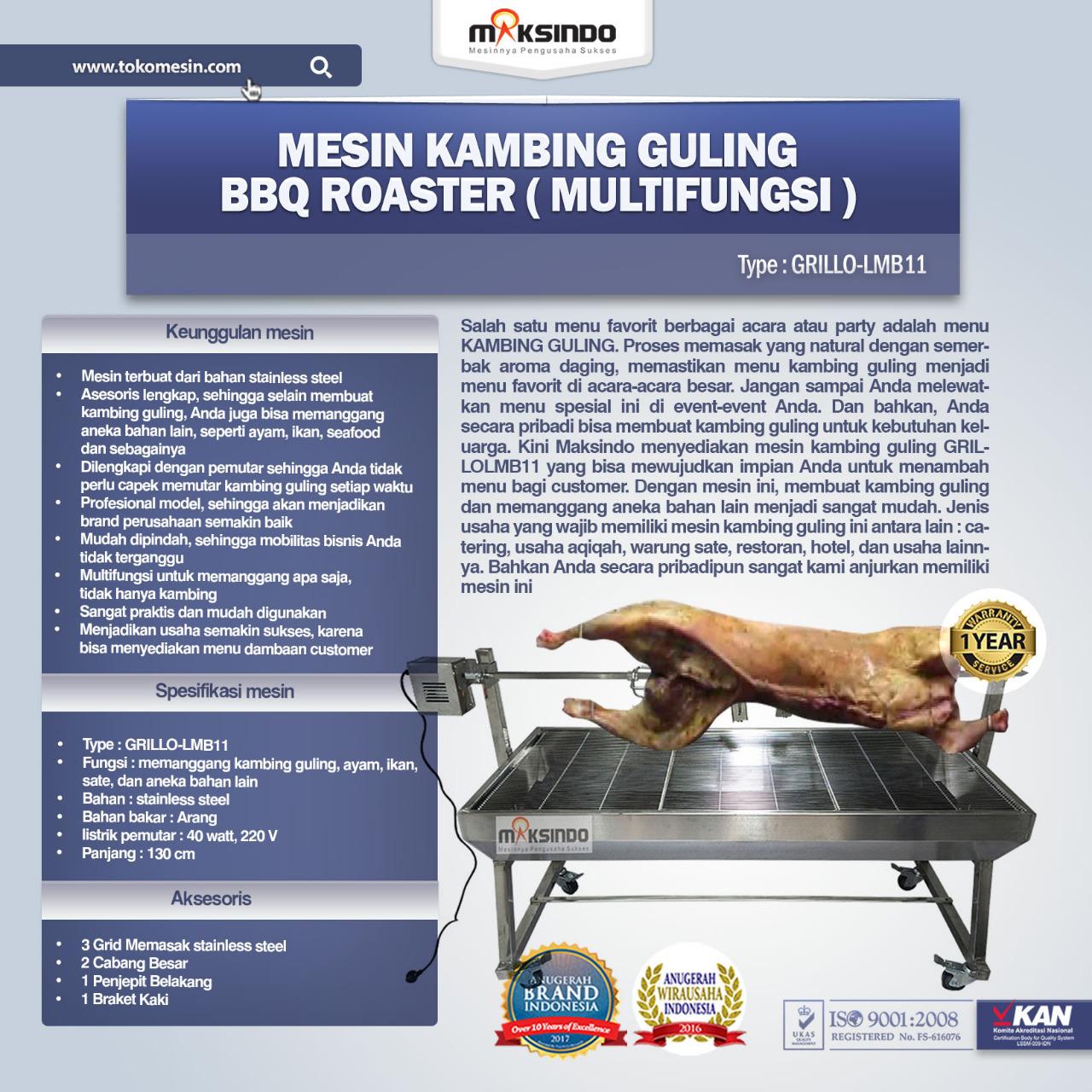 Jual Mesin Kambing Guling BBQ Roaster (GRILLO-LMB11) di Bekasi
