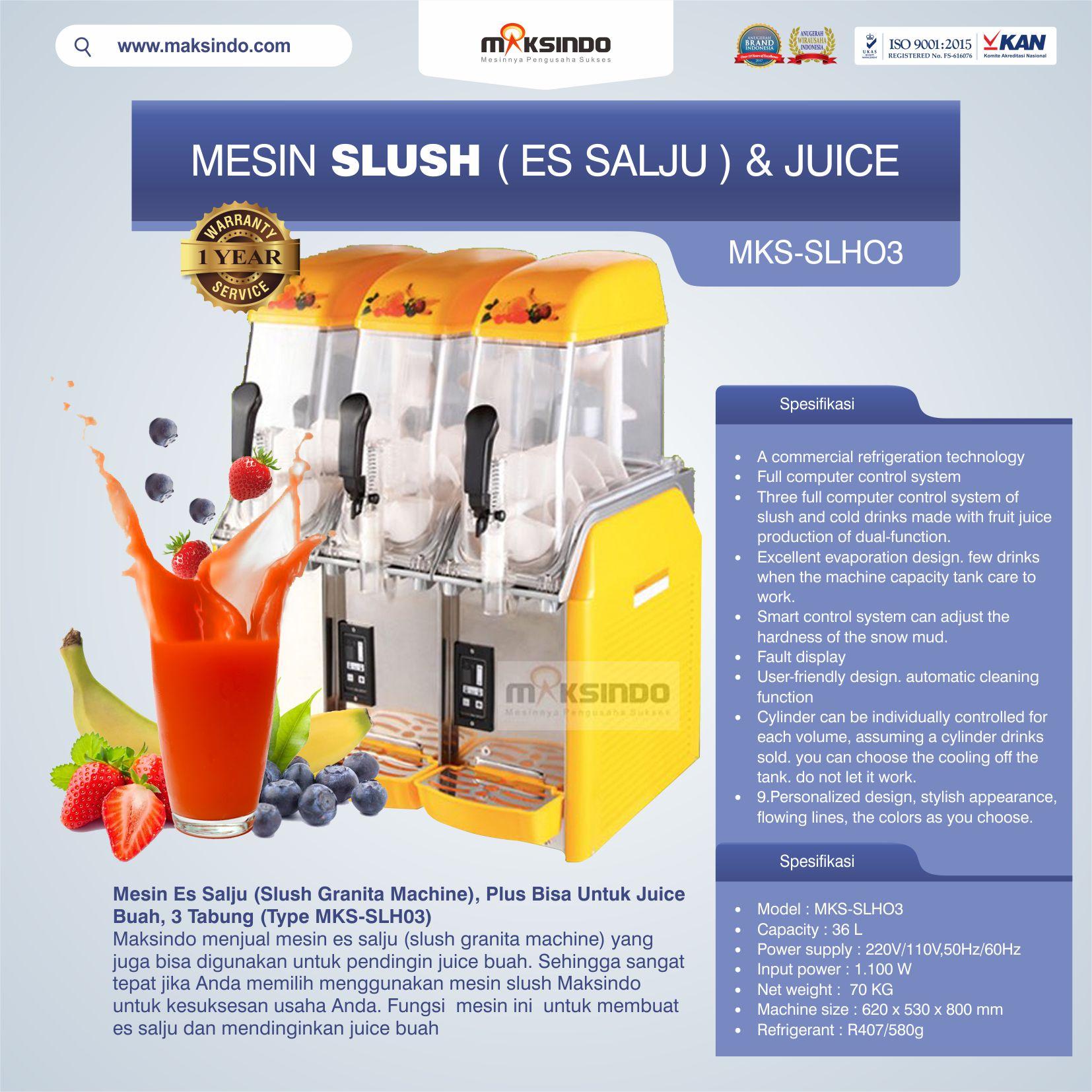 Jual Mesin Slush (Es Salju) dan Juice – SLH03 di Bekasi