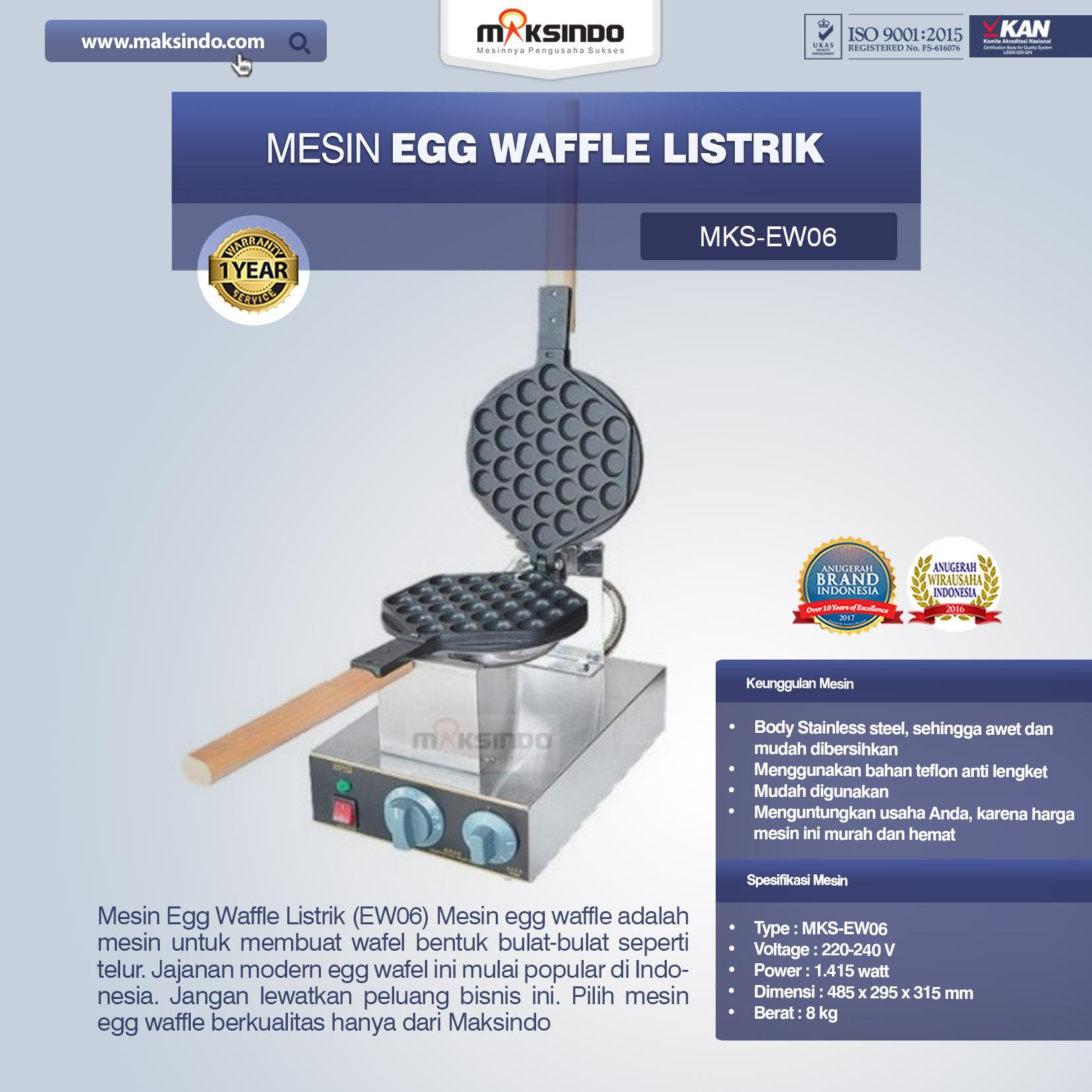 Jual Mesin Egg Waffle Listrik (EW06) di Bekasi