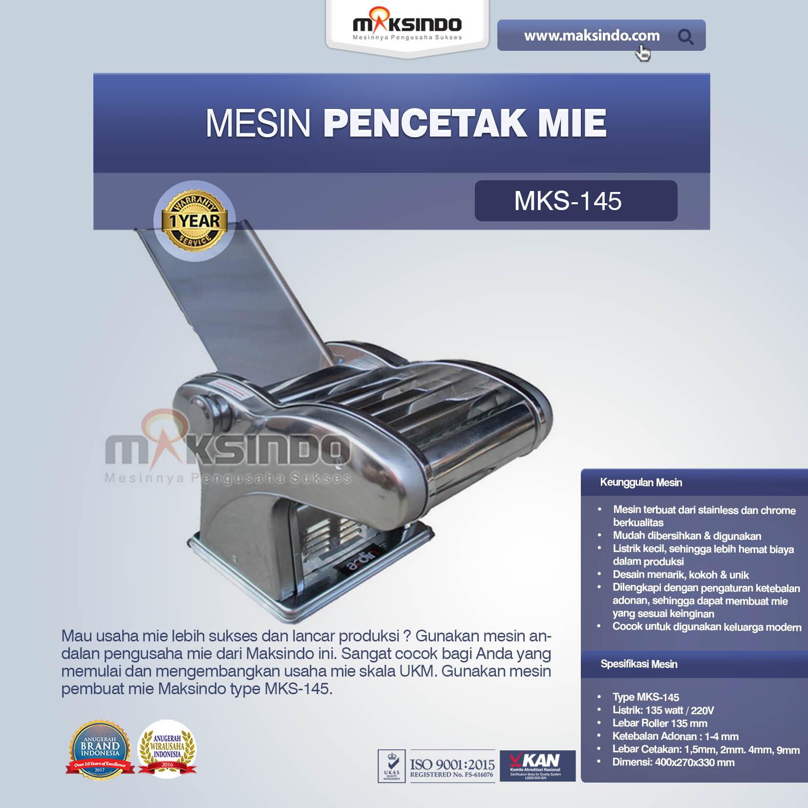 JUal Mesin Cetak Mie (MKS-145) di Bekasi