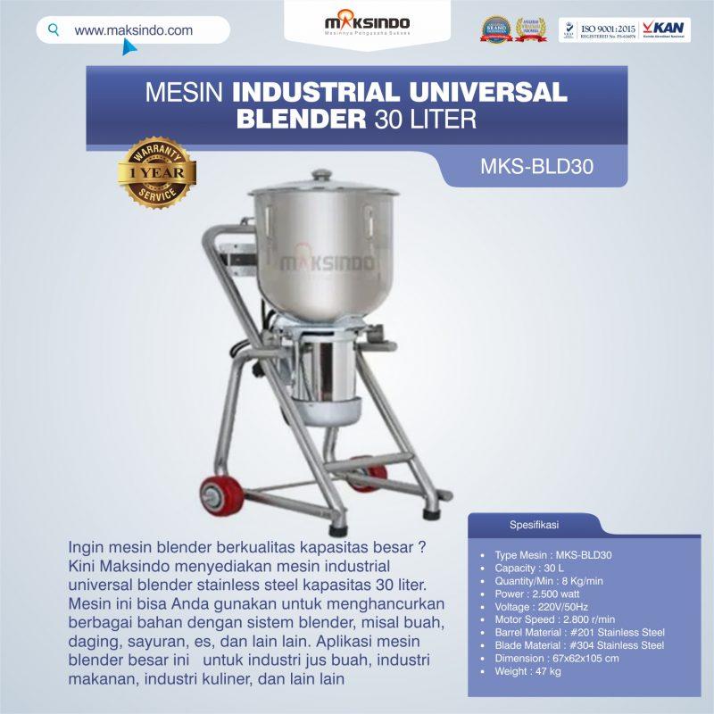 Jual Industrial Universal Blender 30 Liter MKS-BLD30 di Bekasi