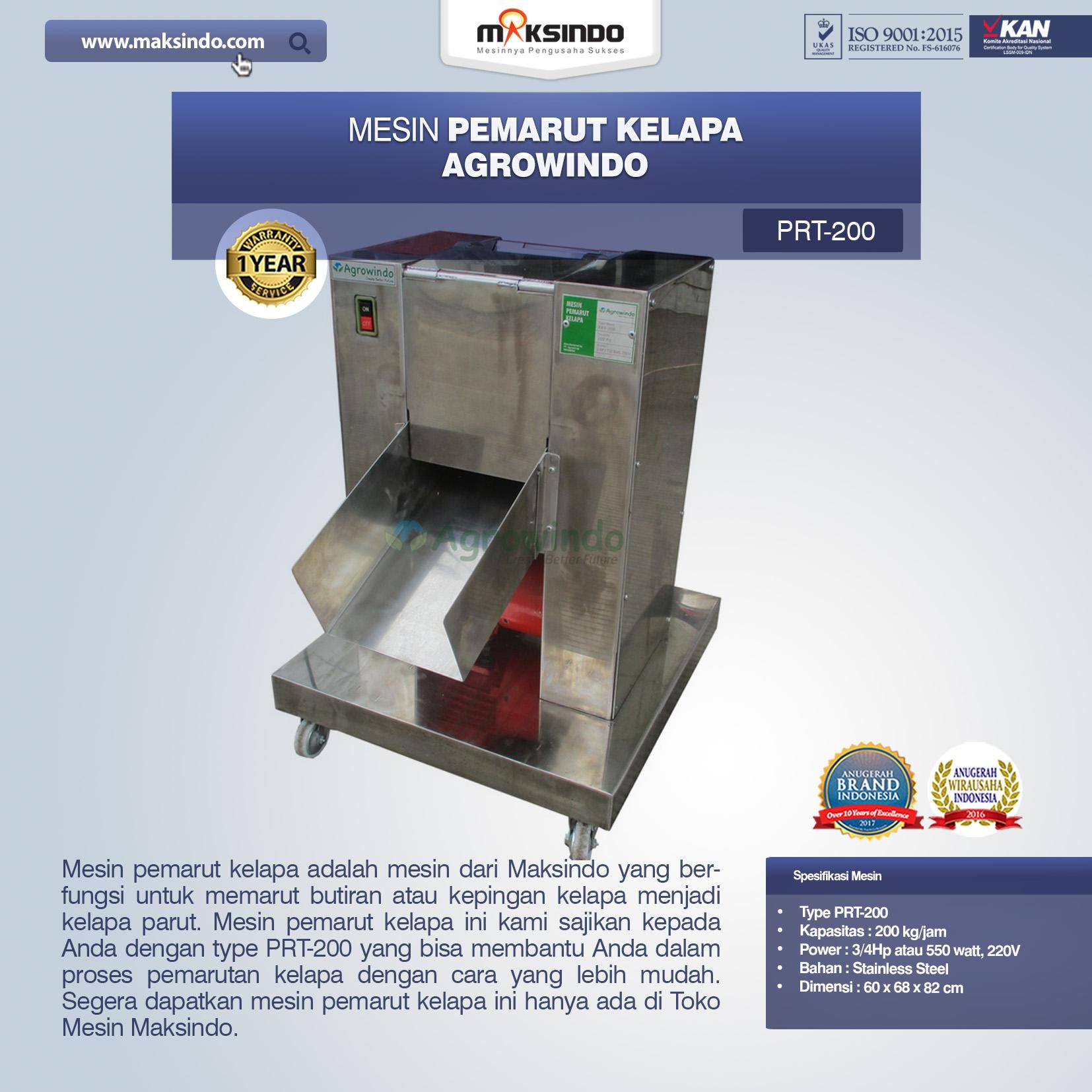 Jual Mesin Pemarut Kelapa PRT-200 Di Bekasi