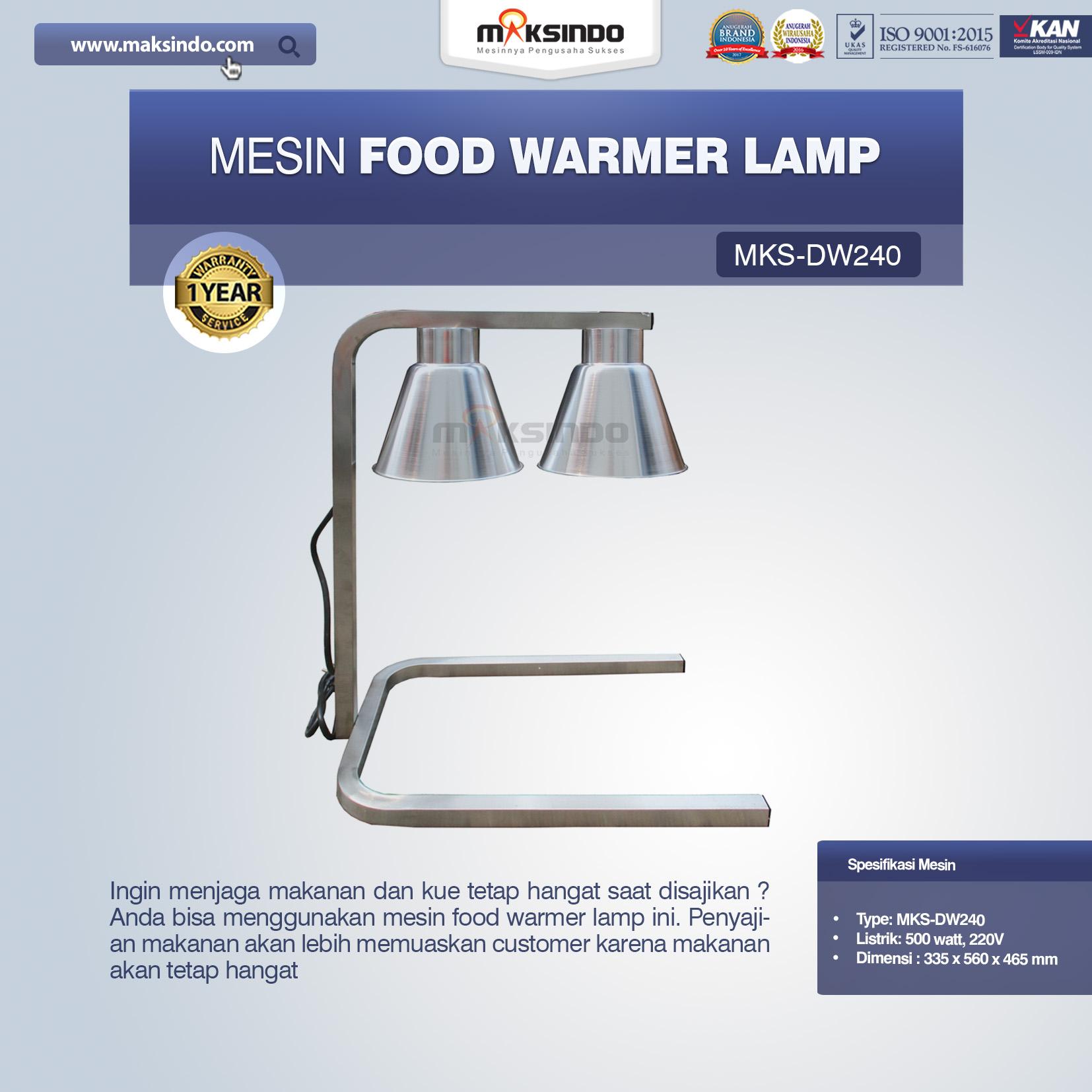 Jual Mesin Food Warmer Lamp MKS-DW240 di Bekasi
