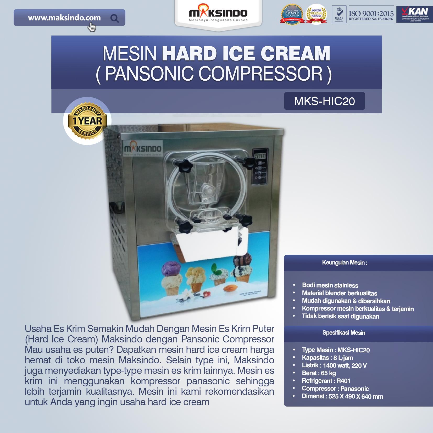 Jual Mesin Hard Ice Cream (HIC20) di Bekasi