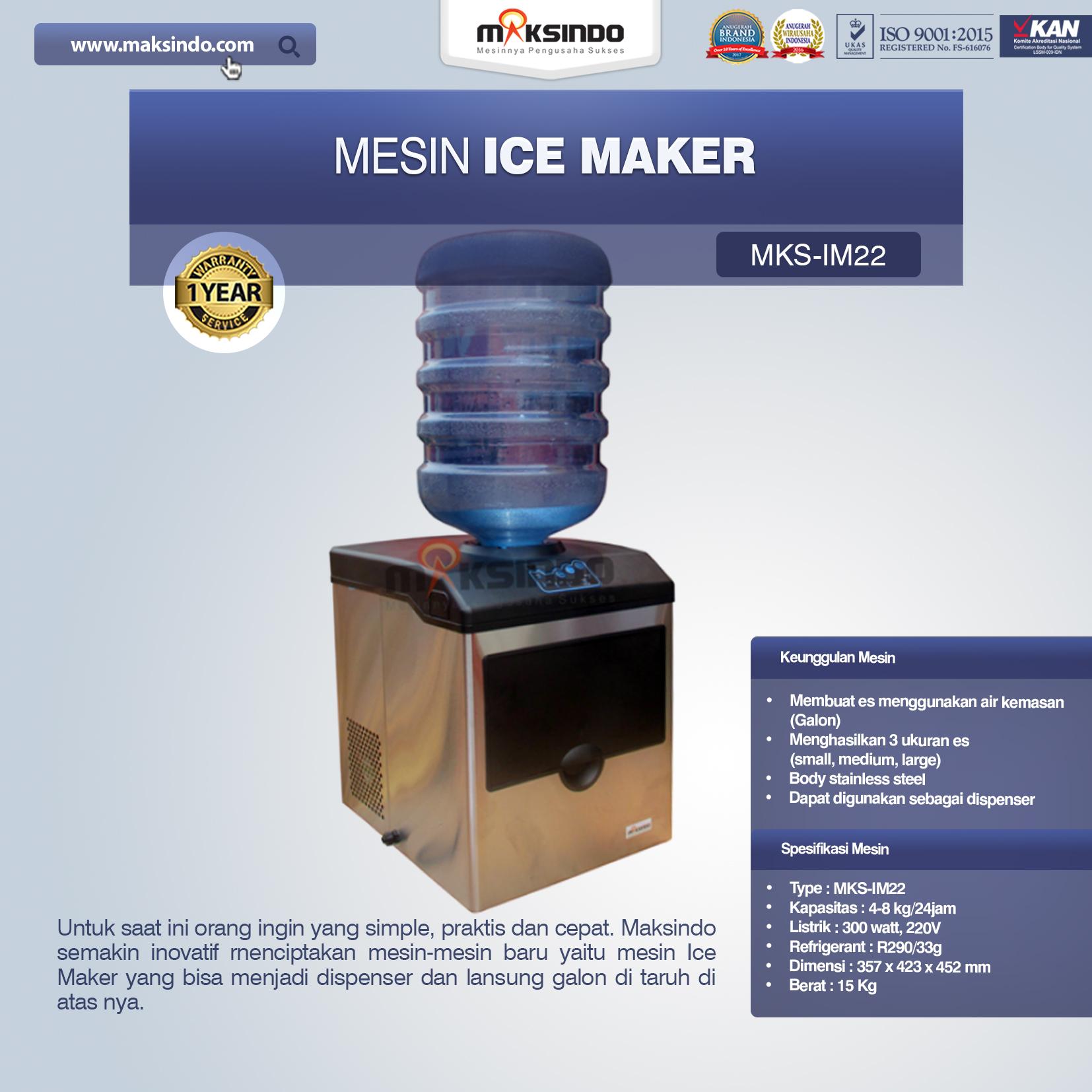 Jual Mesin Ice Maker MKS-IM22 di Bekasi