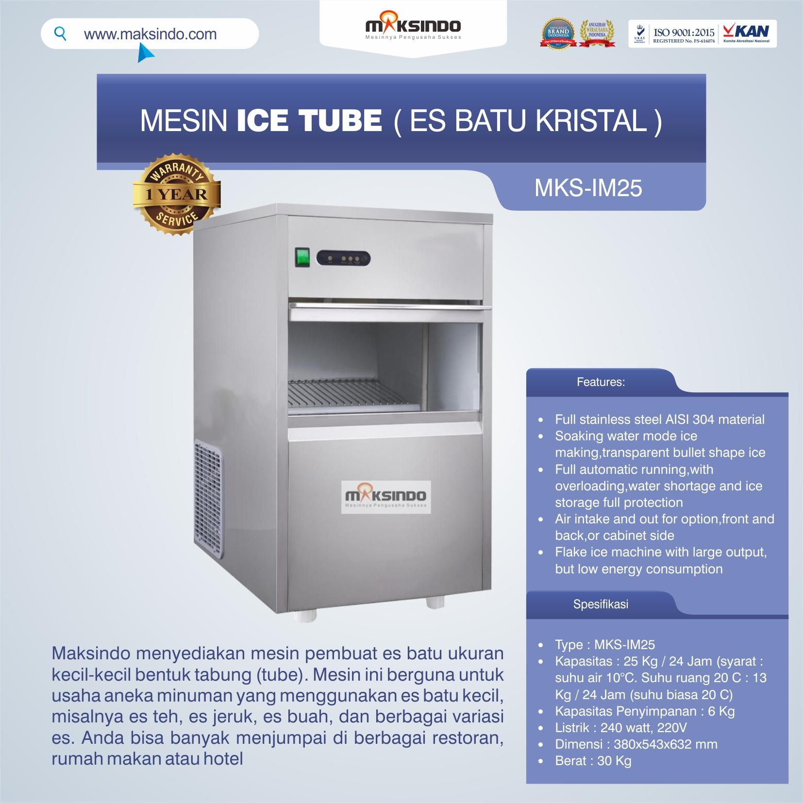 Jual Mesin Ice Tube (Es Batu Kristal) di Bekasi