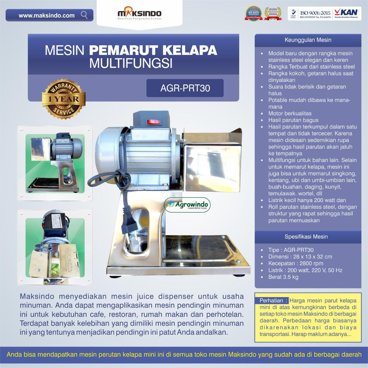 Jual Mesin Pemarut Kelapa Multifungsi AGR-PRT30 di Bekasi