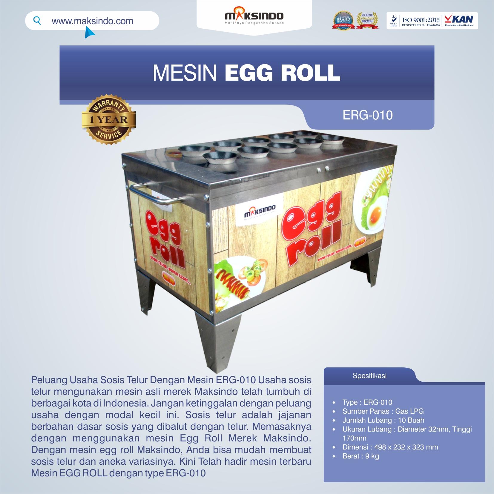 Jual Mesin Pembuat Egg Roll ERG-010 di Bekasi