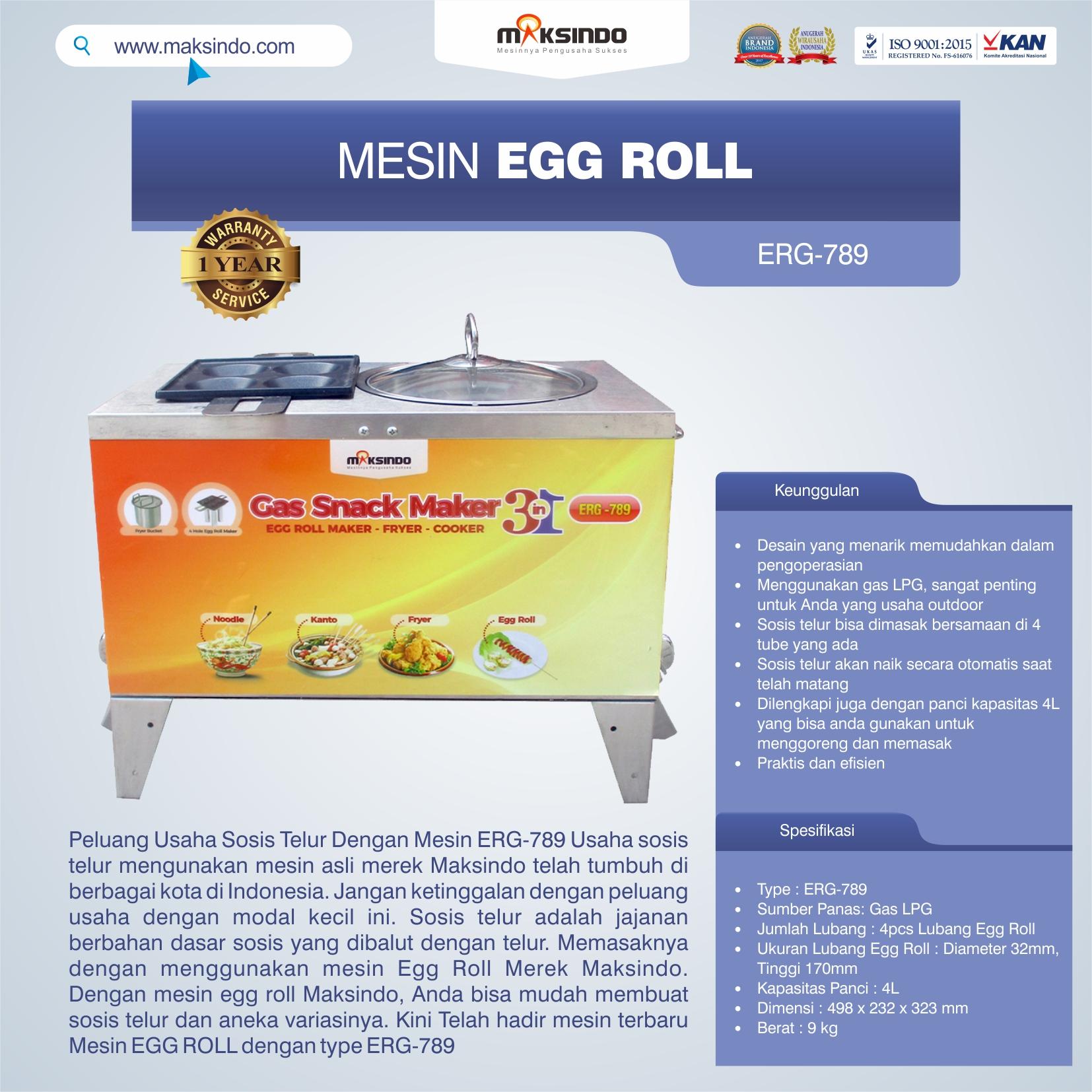 Jual Mesin Egg Roll ERG-789 di Bakasi