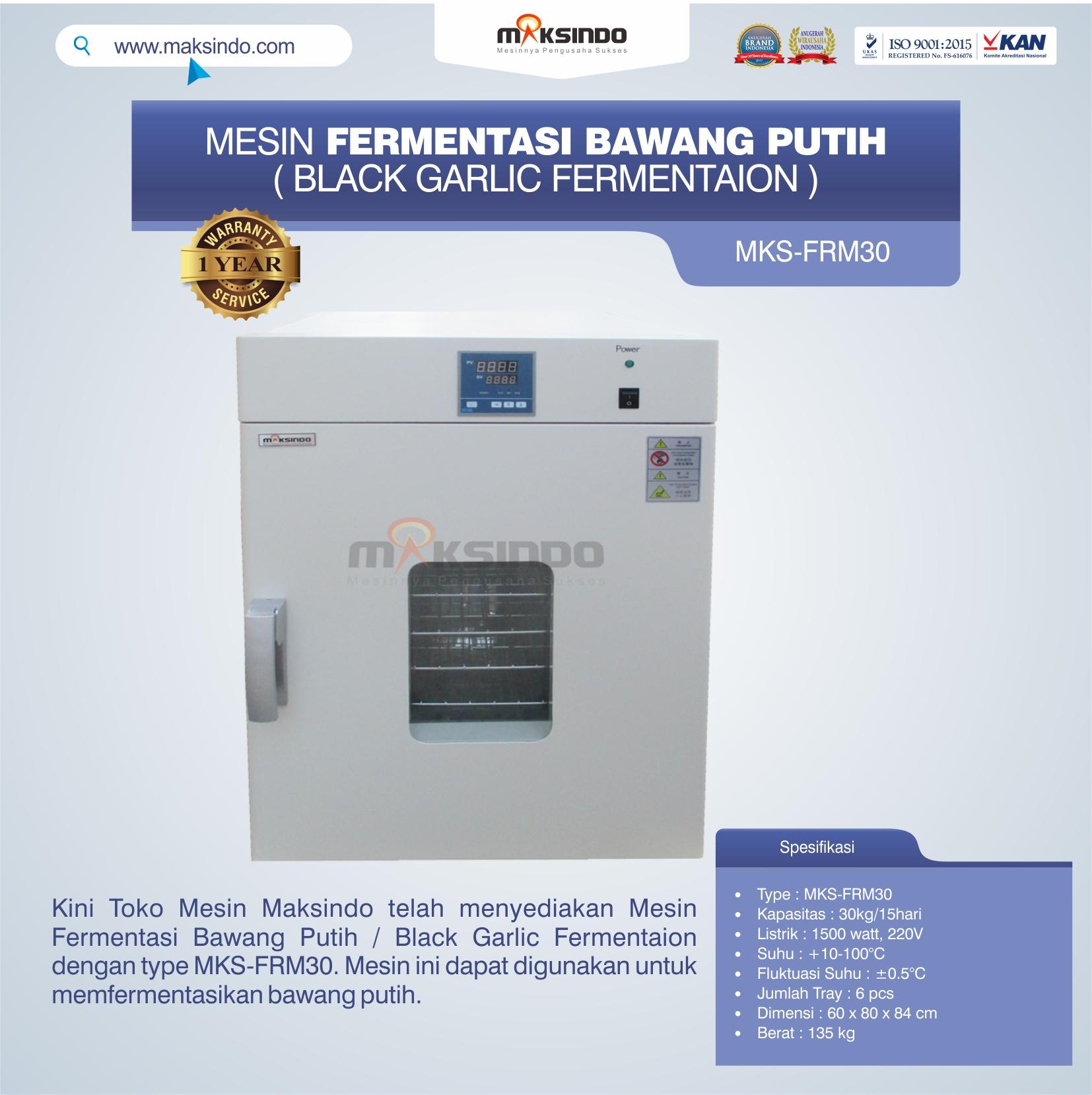 Jual Mesin Fermentasi Bawang Putih / Black Garlic Fermentaion MKS-FRM30 di Bekasi