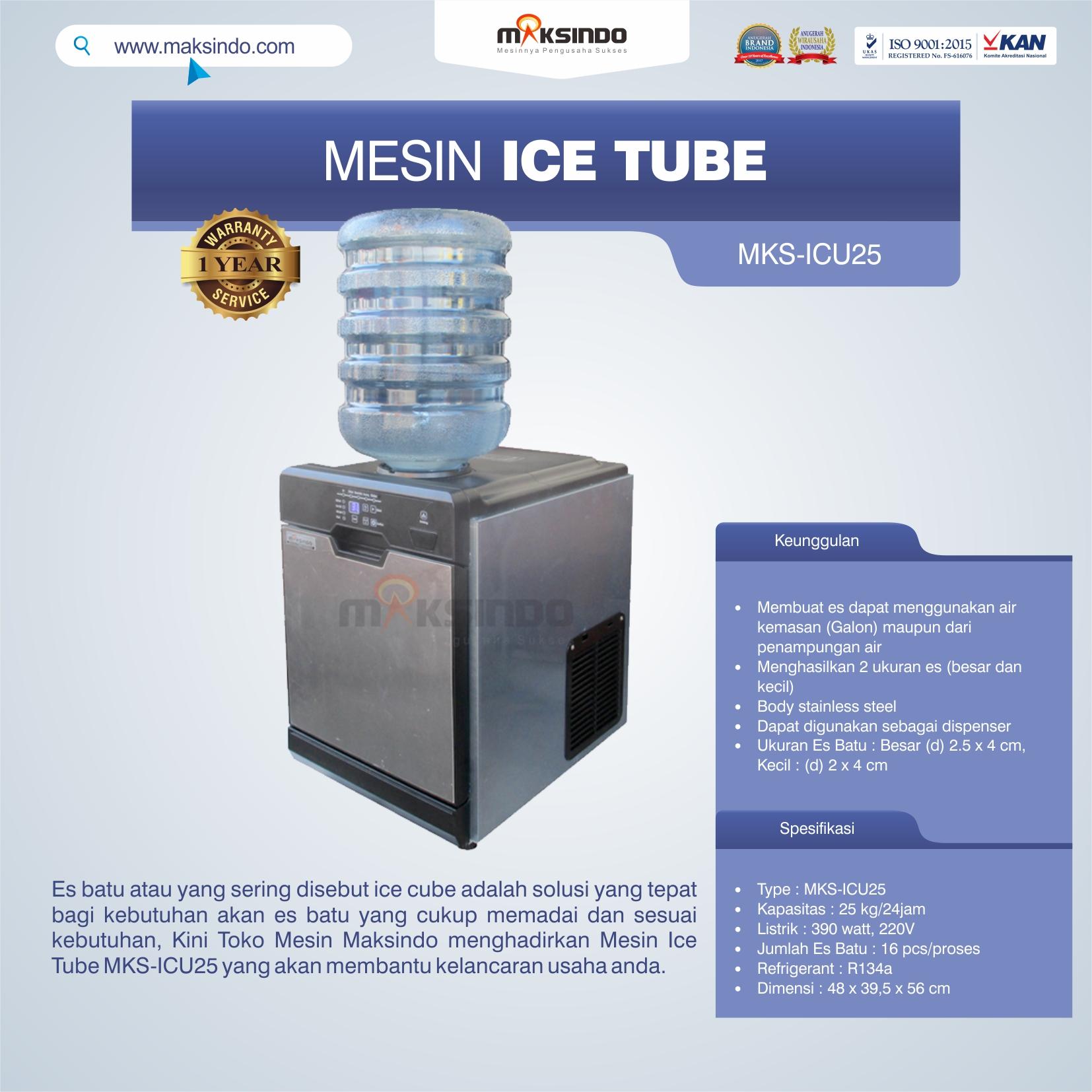 Jual Mesin Ice Tube MKS-ICU25 di Bekasi