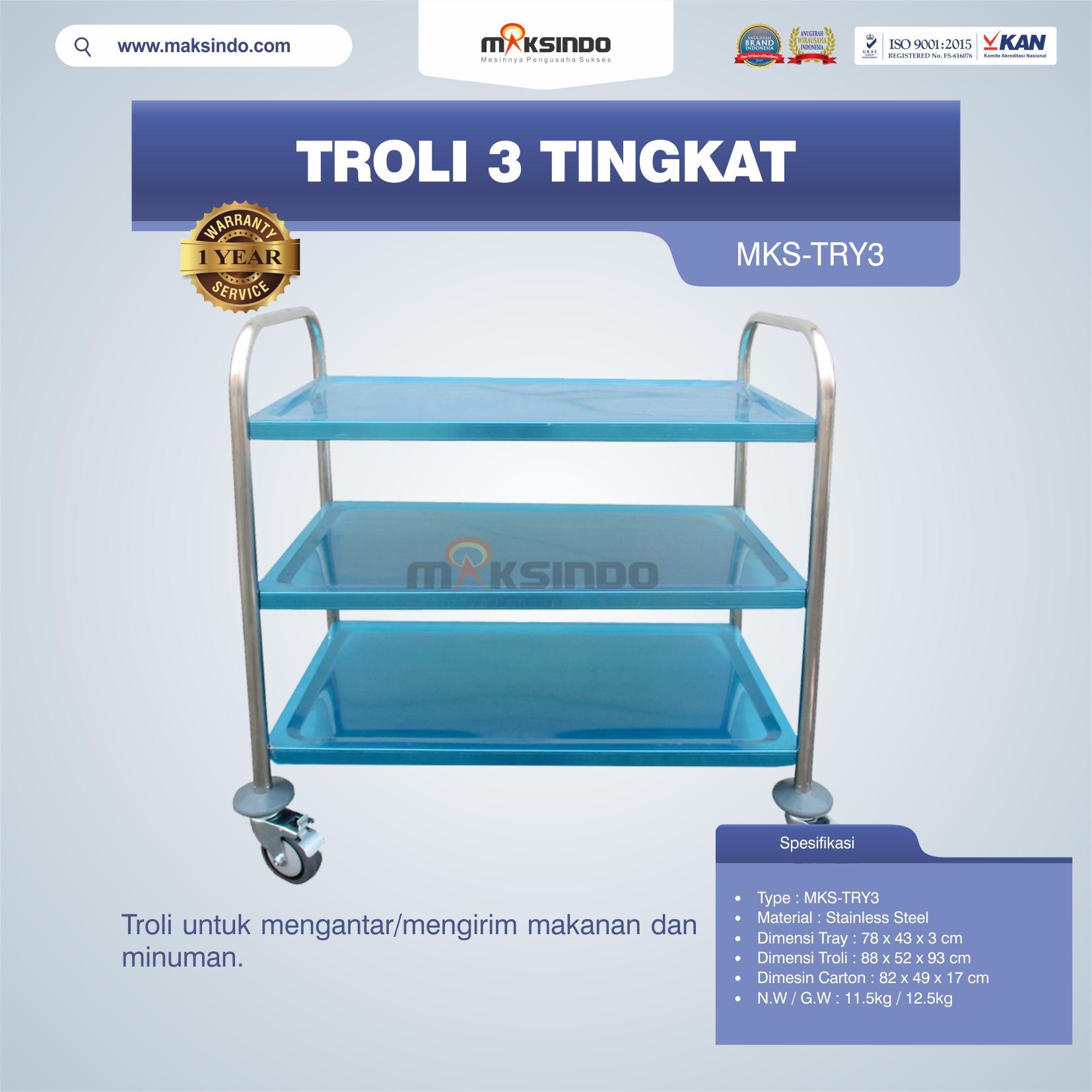 Jual Troli 3 Tingkat MKS-TRY3 di Bekasi