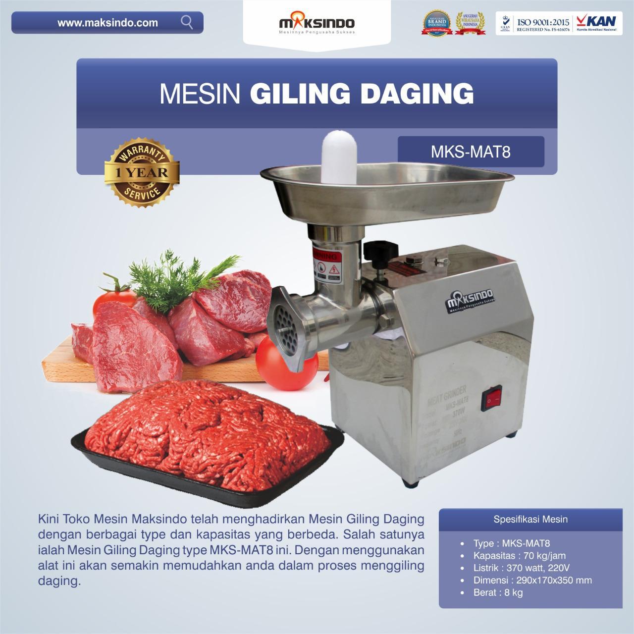 Jual Mesin Giling Daging MKS-MAT8 di Bekasi