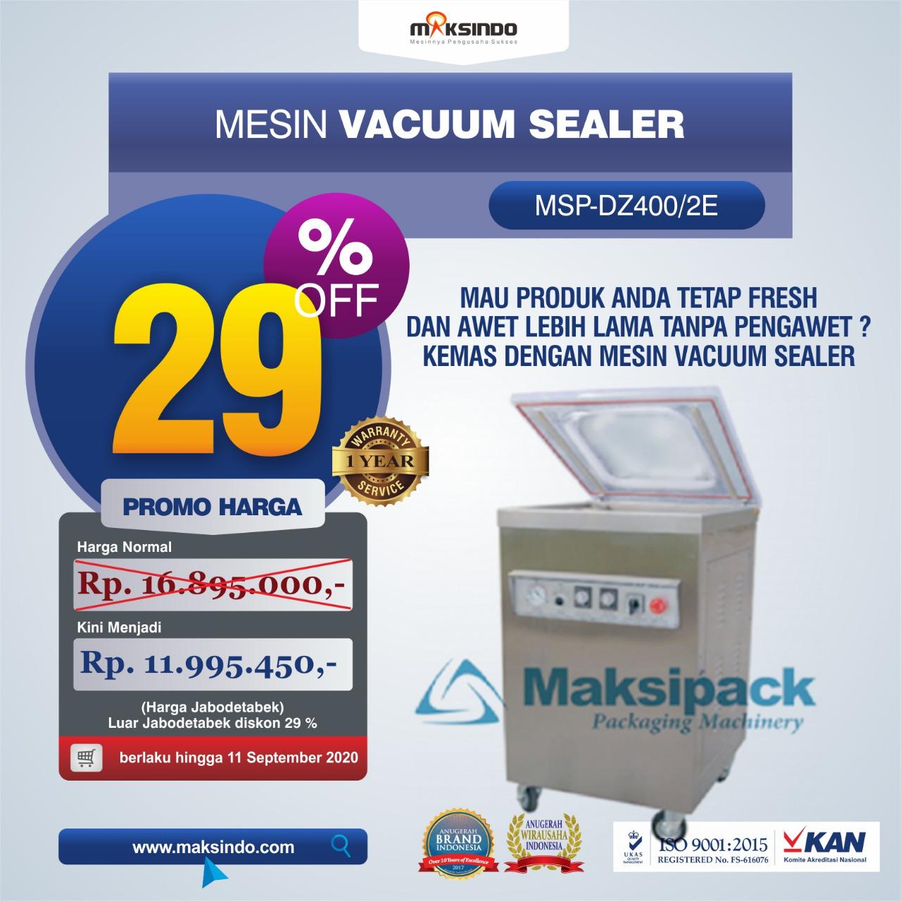 Jual Mesin Vacuum Sealer (MSP-DZ400/2E) di Bekasi
