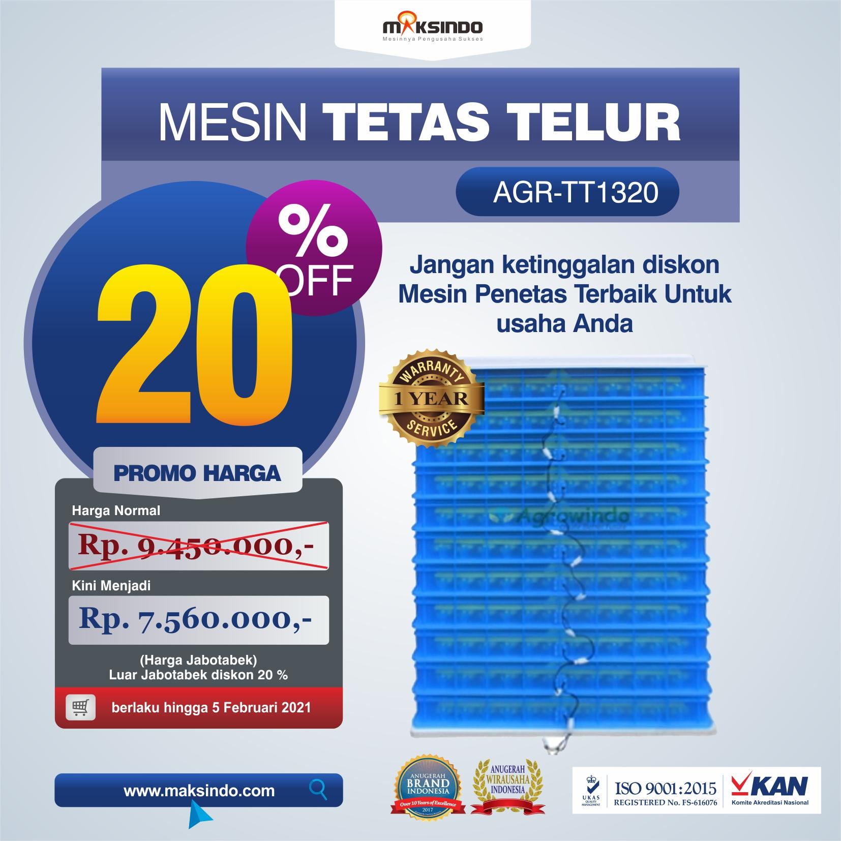Jual Mesin Penetas Telur AGR-TT1320 Di Bekasi