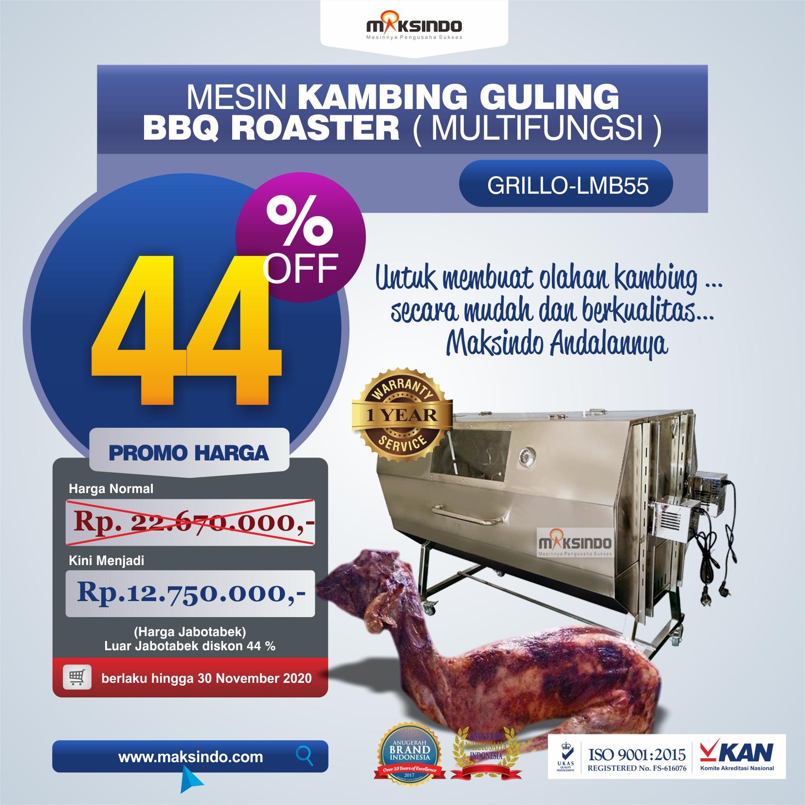 Jual Mesin Kambing Guling Double Location Roaster (GRILLO-LMB55) di Bekasi