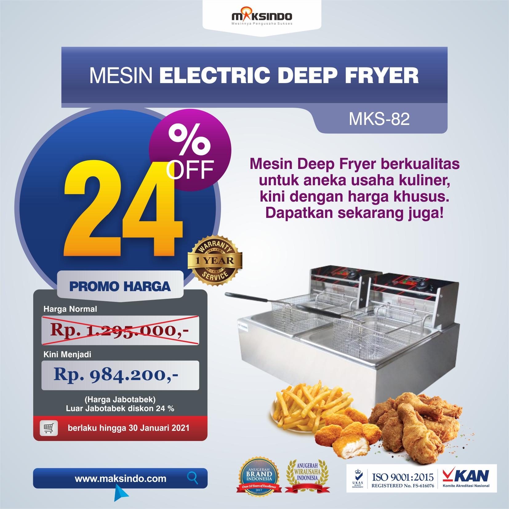 Jual Mesin Electric Deep Fryer MKS-82 di Bekasi