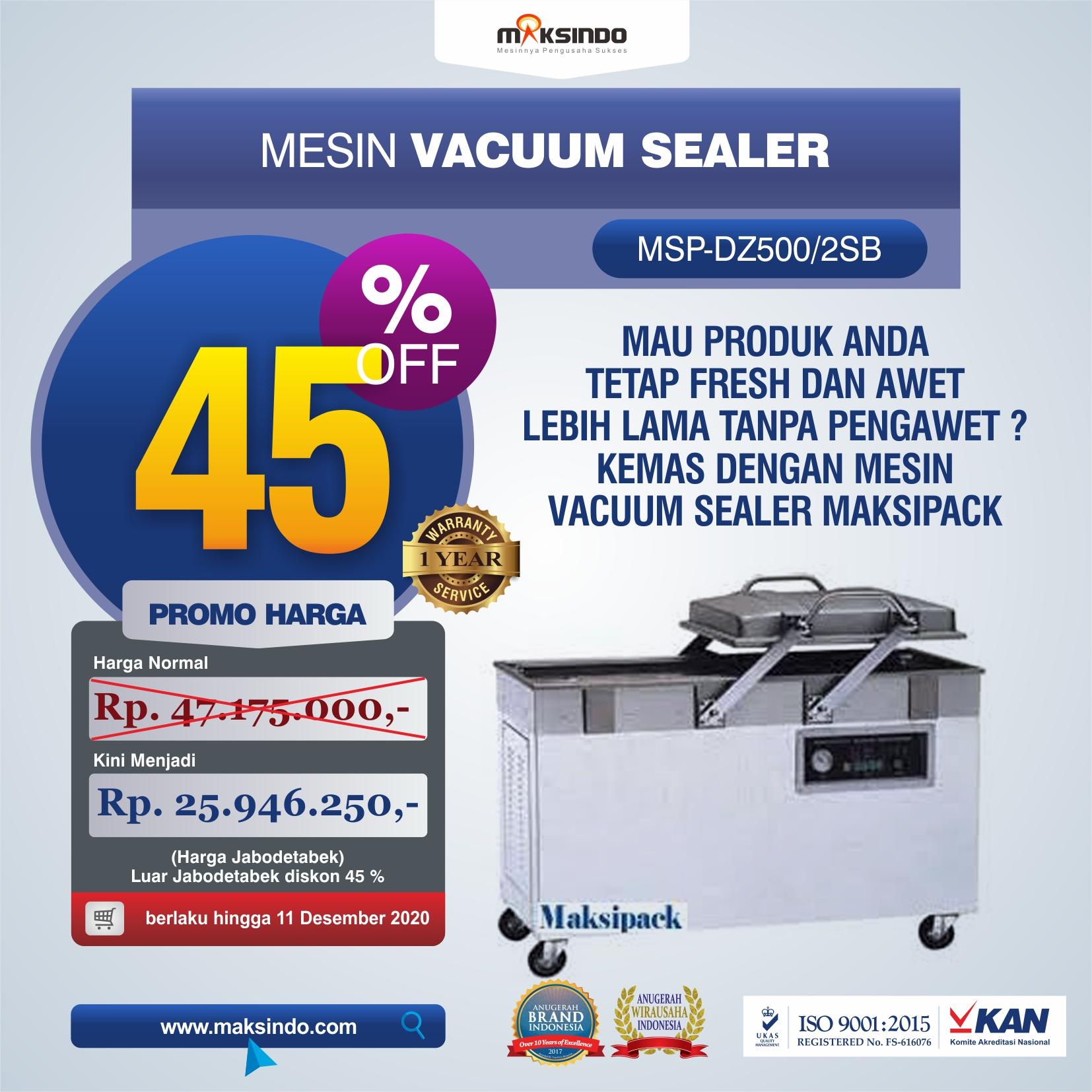Jual Mesin Vacuum Sealer (DZ500/2SB) di Bekasi