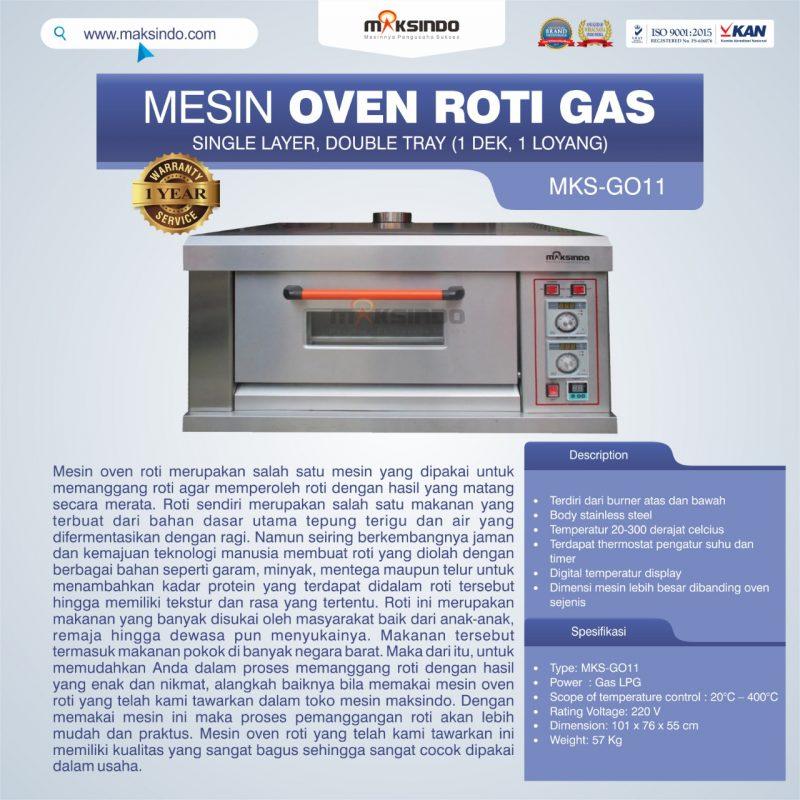 Jual HOT DEAL Mesin Oven Roti Gas (MKS-GO11) di Bekasi
