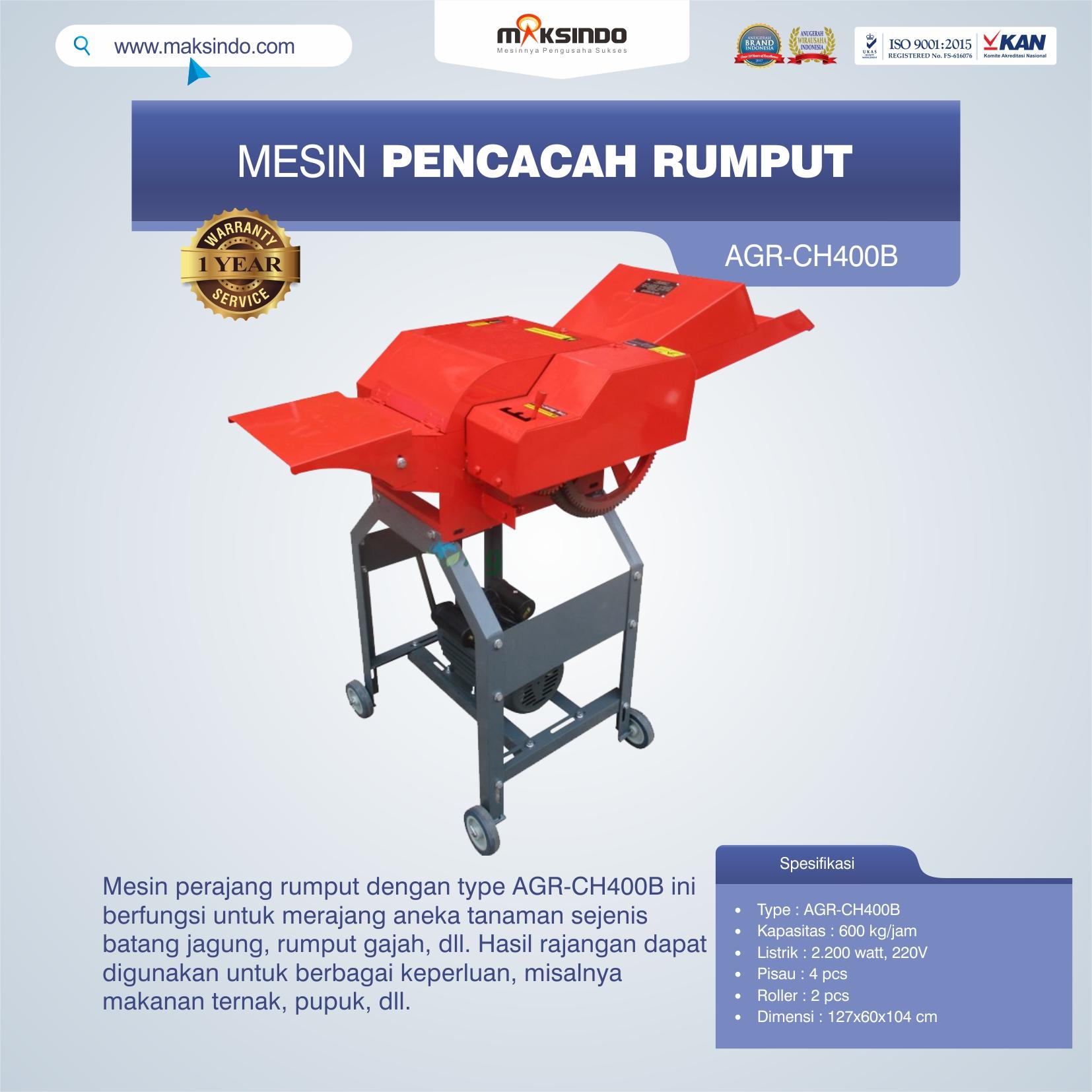 Jual Mesin Pencacah RumputAGR-CH400B di Bekasi
